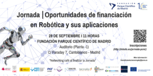 Jornada-Oportunidades de financiación en Robótica y sus aplicaciones-FPCM