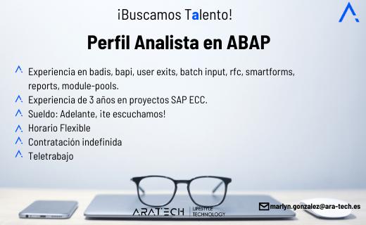 Aratech Perfil Analista en ABAP