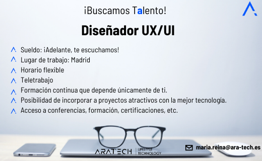 Aratech diseñador/a UX/UI
