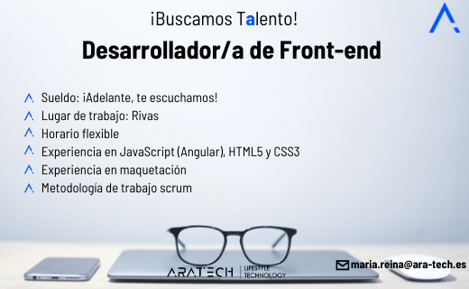Aratech desarrollador/a de front-end