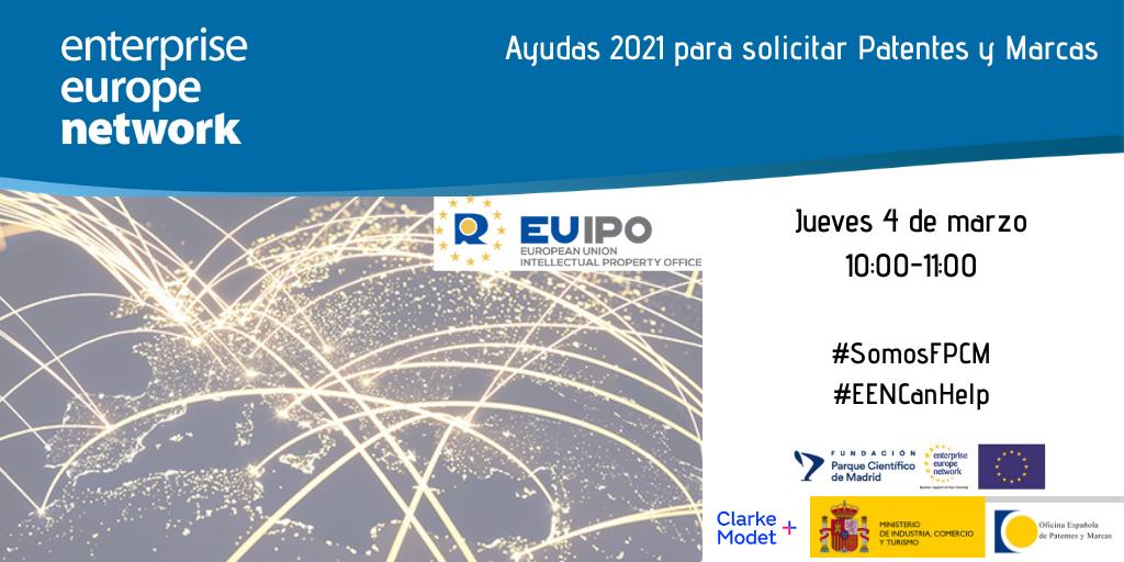 Éxito de la sesión Ayudas 2021 para solicitar Patentes y Marcas